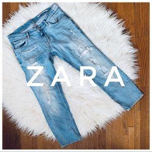 ZARA Distressed Crop Jeans